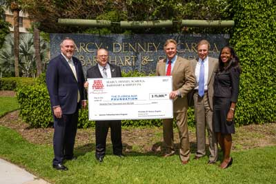 Searcy Denney makes largest ever law firm gift Photo of Check Presented