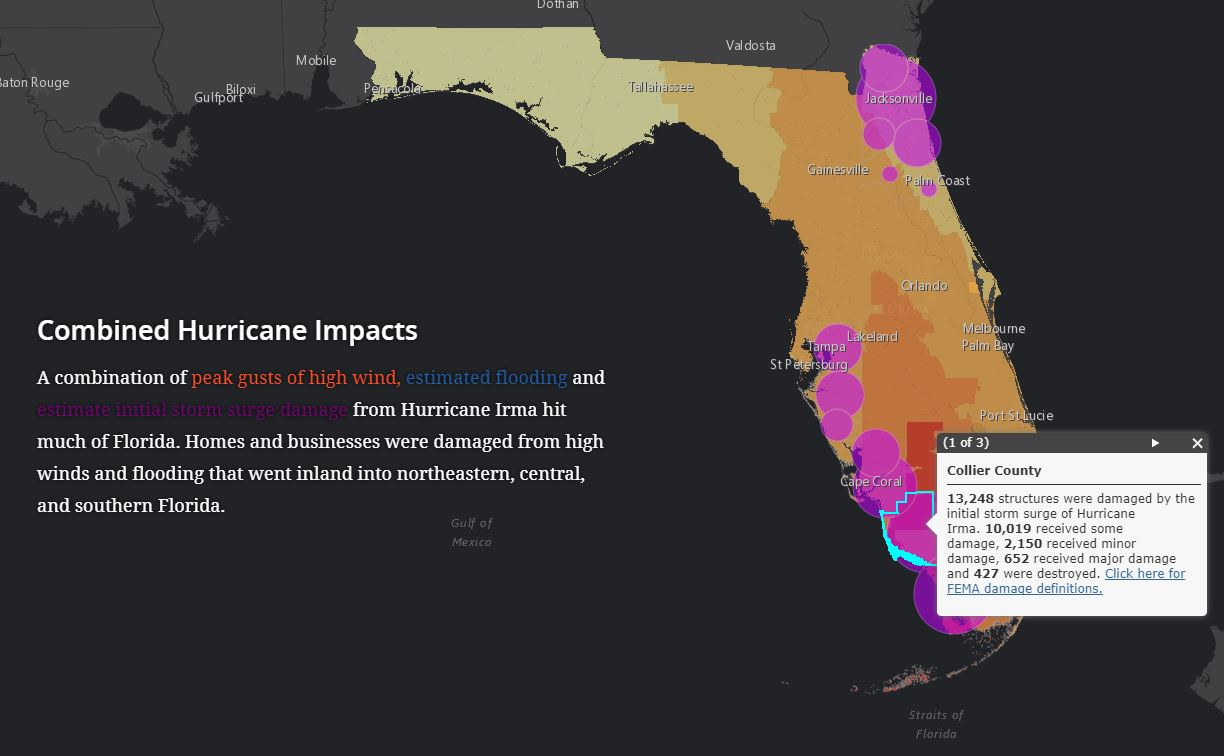 Interactive Map Of Florida.Interactive Story Map Shows Hurricane Impacts And Florida S